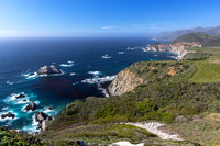 Overlook above Bixby Bridge, Big Sur