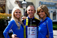 Fan with podium girls...