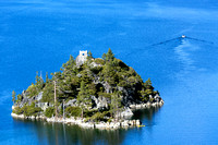 Vikingsholm, built on the only island in Lake Tahoe -- Fanette Island.