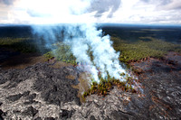 the  lava flow from Kilauea